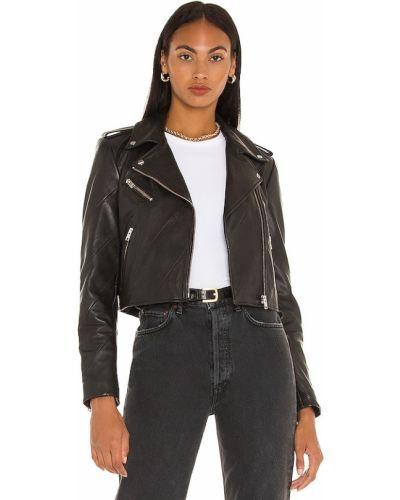 Czarna kurtka asymetryczna Lamarque