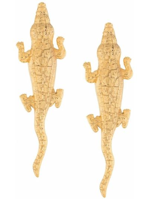 Золотистые серьги золотые металлические Natia X Lako