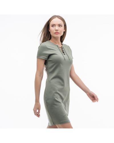 Платье из вискозы зеленый Lacoste