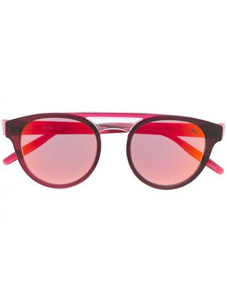 Прямые муслиновые солнцезащитные очки круглые хаки Puma