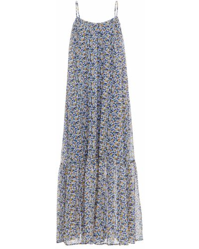 Синее платье макси с подкладкой из крепа SamsØe Φ SamsØe