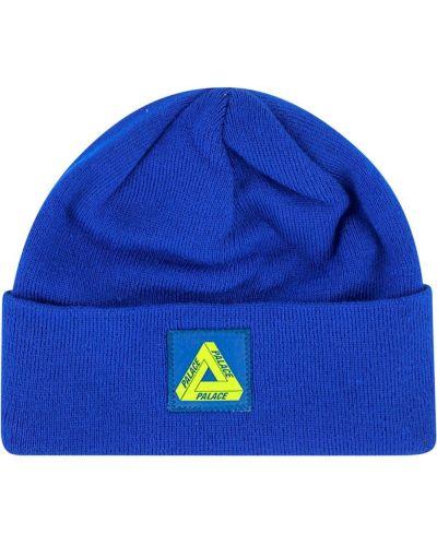 Вязаная шапка бини - синяя Palace