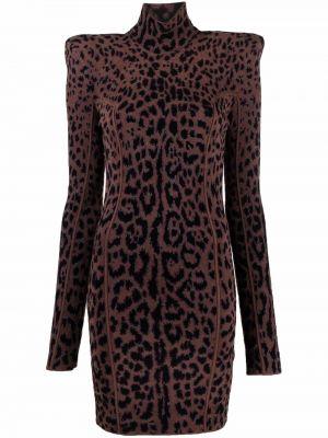 Платье макси с длинными рукавами - черное Roberto Cavalli