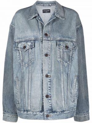Синяя джинсовая куртка классическая Balenciaga