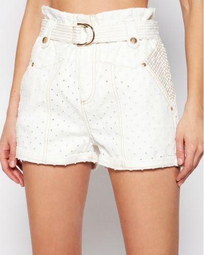 Białe szorty jeansowe Ixiah