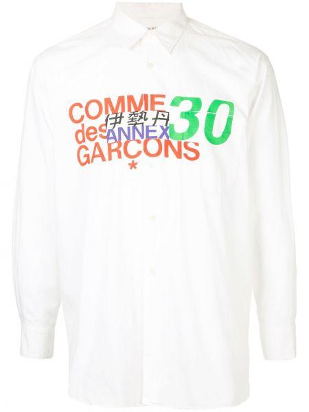 Белая классическая рубашка с воротником винтажная с карманами Comme Des Garçons Pre-owned