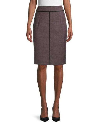 Шерстяная юбка макси с подкладкой Boss Hugo Boss