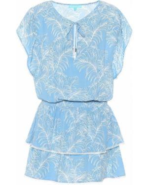 Синее платье из вискозы Melissa Odabash