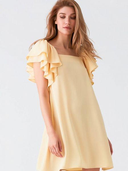 Вечернее платье весеннее желтый Love Republic