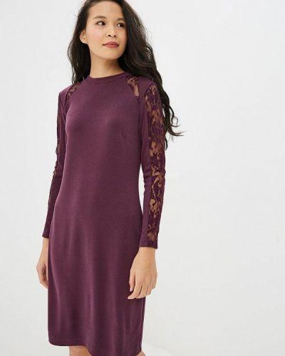 Платье осеннее фиолетовый Арт-Деко