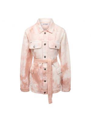 Хлопковая розовая джинсовая куртка Two Women In The World