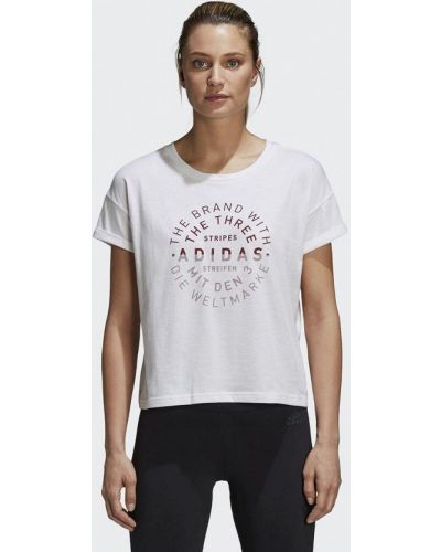 Белая футболка 2019 Adidas