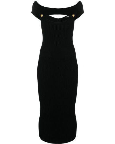Czarna sukienka elegancka Balmain