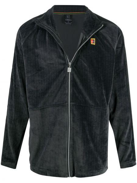 Прямая черная куртка с рукавом реглан с декоративной отделкой Nike