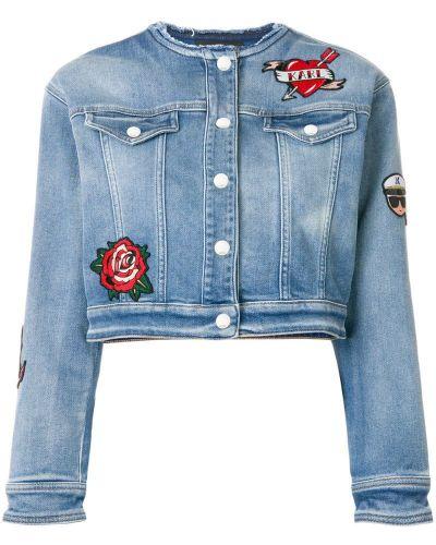 Синяя джинсовая куртка Karl Lagerfeld