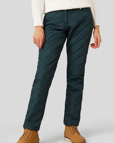 Свободные брюки утепленные зеленый Finn Flare