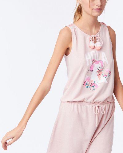 Пижама с рубашкой розовый Etam