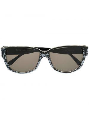 Прямые муслиновые солнцезащитные очки квадратные хаки Krizia Pre-owned