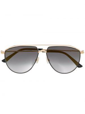 Прямые муслиновые солнцезащитные очки хаки Jimmy Choo Eyewear