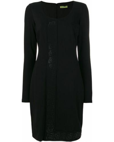 Джинсовое платье приталенное с вырезом Versace Jeans