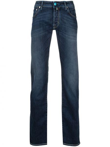 Синие прямые джинсы с низкой посадкой Jacob Cohen