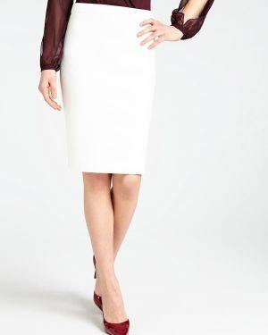 Biała spódnica ołówkowa materiałowa Guess