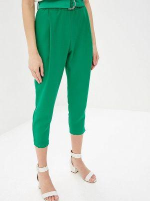 Зеленые брюки с завышенной талией Imperial