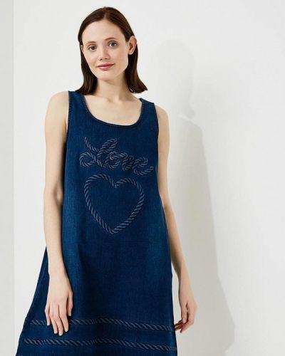 Синее платье джинсовое Love Moschino