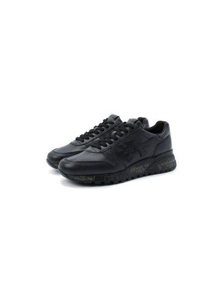 Текстильные черные кроссовки на шнуровке с подкладкой Premiata