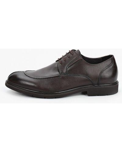 Коричневые кожаные туфли Marco Lippi