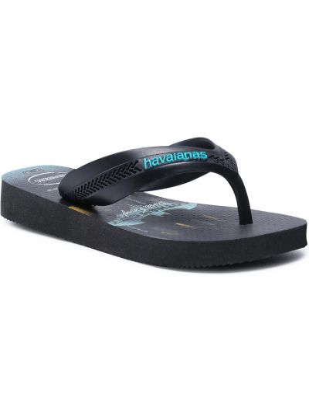 Czarne sandały japonki Havaianas