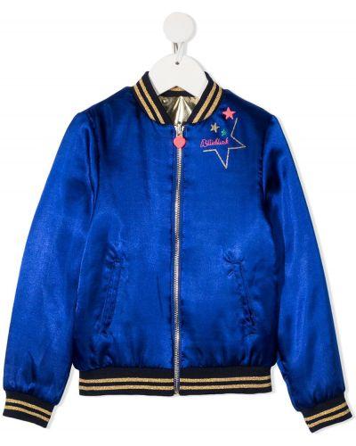 Niebieska złota długa kurtka z długimi rękawami Billieblush