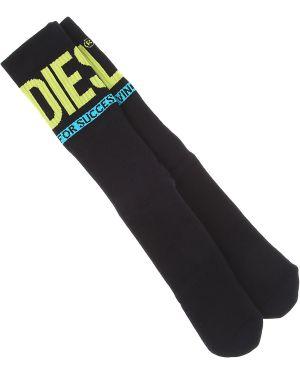 Prążkowane czarne skarpety wełniane Diesel Skarpetki