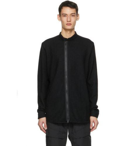 Czarny długi sweter z długimi rękawami Acronym