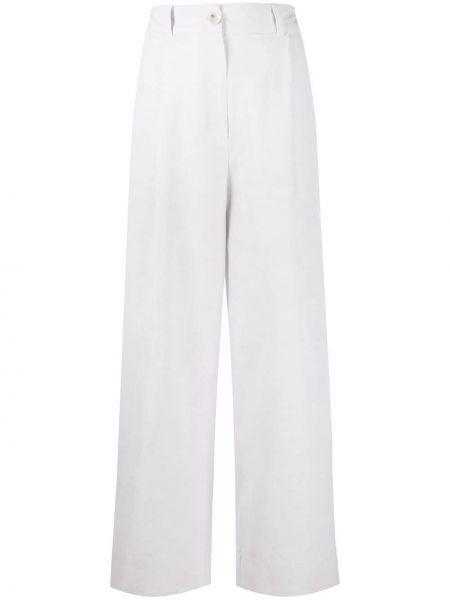 Серые льняные укороченные брюки с поясом свободного кроя A Kind Of Guise
