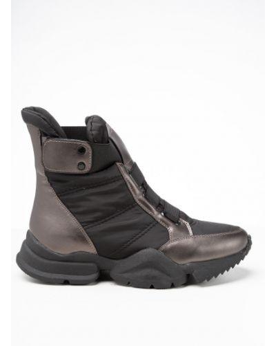 Текстильные черные ботинки Prima D'arte