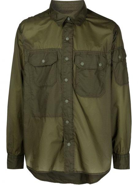 Зеленая рубашка с длинными рукавами с воротником Engineered Garments