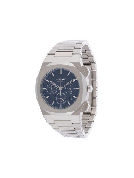 Серебряные часы круглые D1 Milano