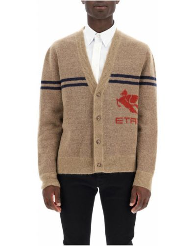 Beżowy sweter moherowy Etro