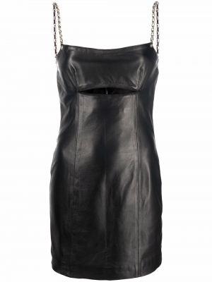 Черное платье из вискозы Manokhi