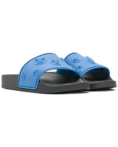 Шлепанцы синие открытый Young Versace