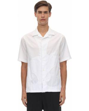 Biała koszula krótki rękaw bawełniana Mcq Alexander Mcqueen