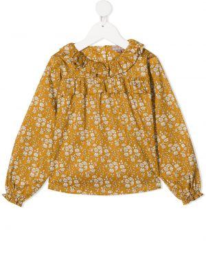 Желтая блузка со вставками с вырезом Emile Et Ida