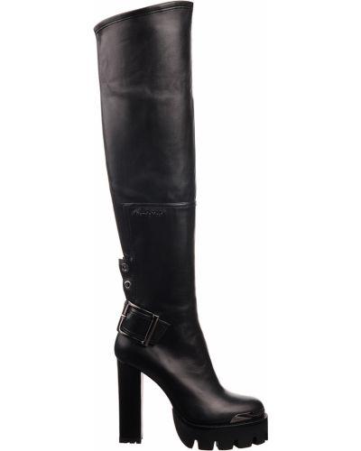 Ботфорты на каблуке кожаные Nando Muzi