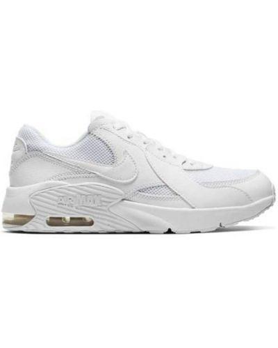 Białe sneakersy srebrne na niskim obcasie Nike