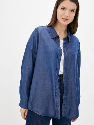 Джинсовая рубашка - синяя Ulla Popken