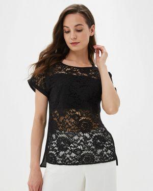 Блузка с коротким рукавом весенний черная Panda