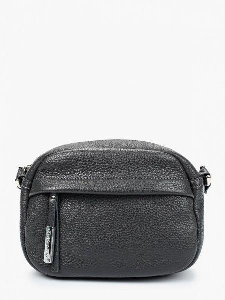 Кожаная сумка через плечо серая Franchesco Mariscotti