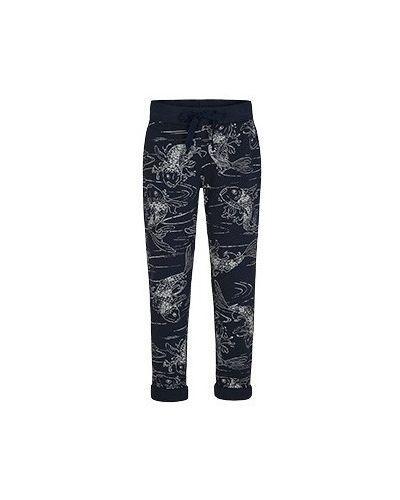 Спортивные брюки из полиэстера - синие Juvia