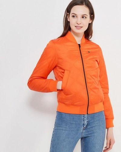 Оранжевая утепленная куртка G-star